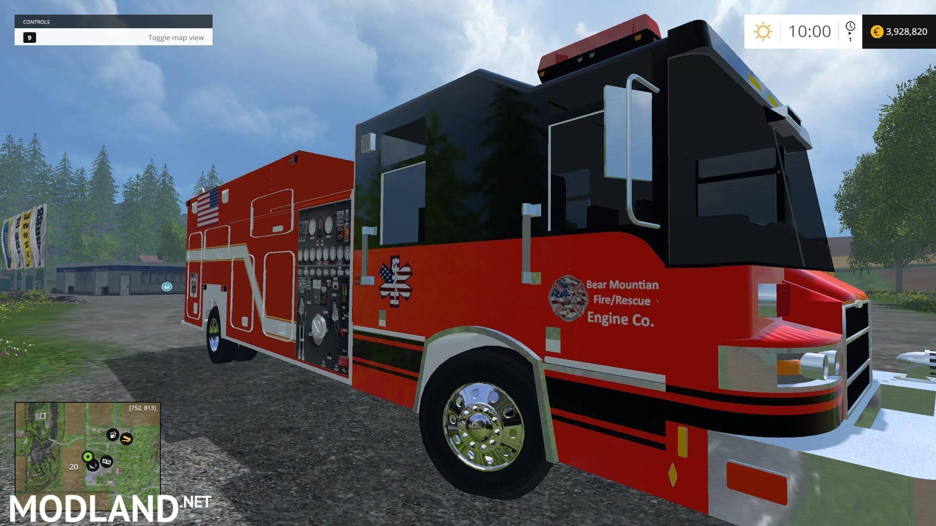 U S Fire Truck v 1 0 mod for Farming Simulator 2015 / 15